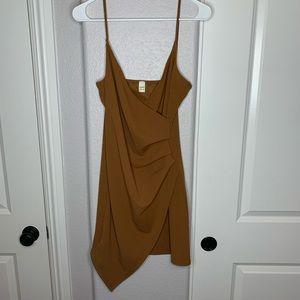 Tan Asymmetrical Dress